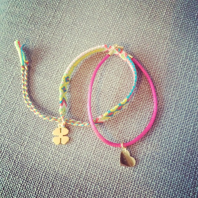 Perfect Match: Lucky Friends Bracelet x Lisbeth Pink Heart bracelet www.vonhey.com #vonhey #vonhey_berlin #bracelet #bracelets #friendshipbracelet