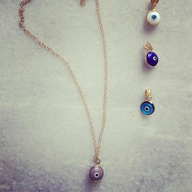 Taupe, White, Blue or Turquoise: which one is your ️? #vonhey #vonhey_berlin #evileye #evileyenecklace #matti #nazar