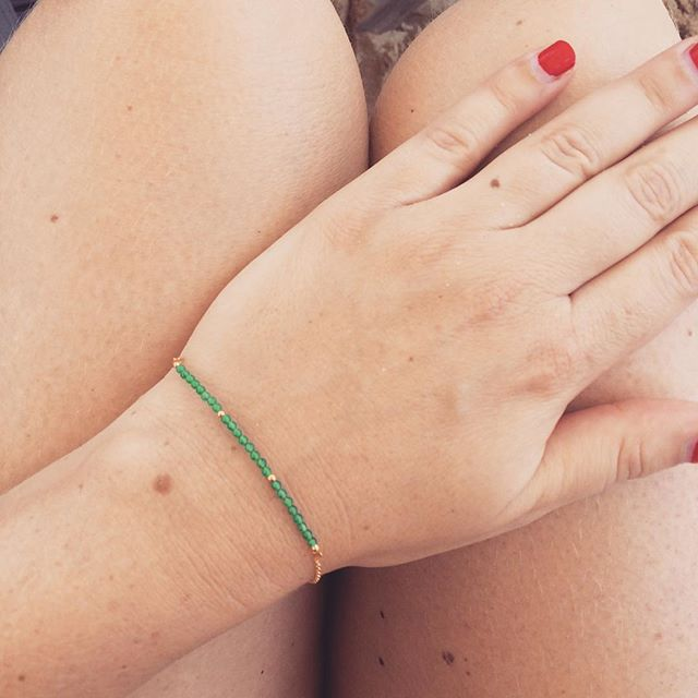 Emerald bracelet - thank you @jorisfood  #thissummerisforever