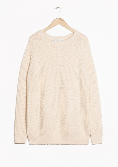 & Other Stories weisser Pullover