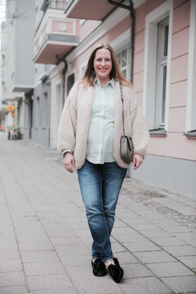 Look of the Day: Die grün-weiß gestreifte Bluse