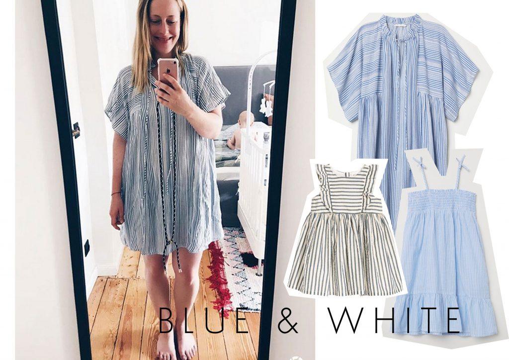 Blau-weiße Sommerkleider für Mutter & Tochter |Anzeige, enthält Affiliate Links