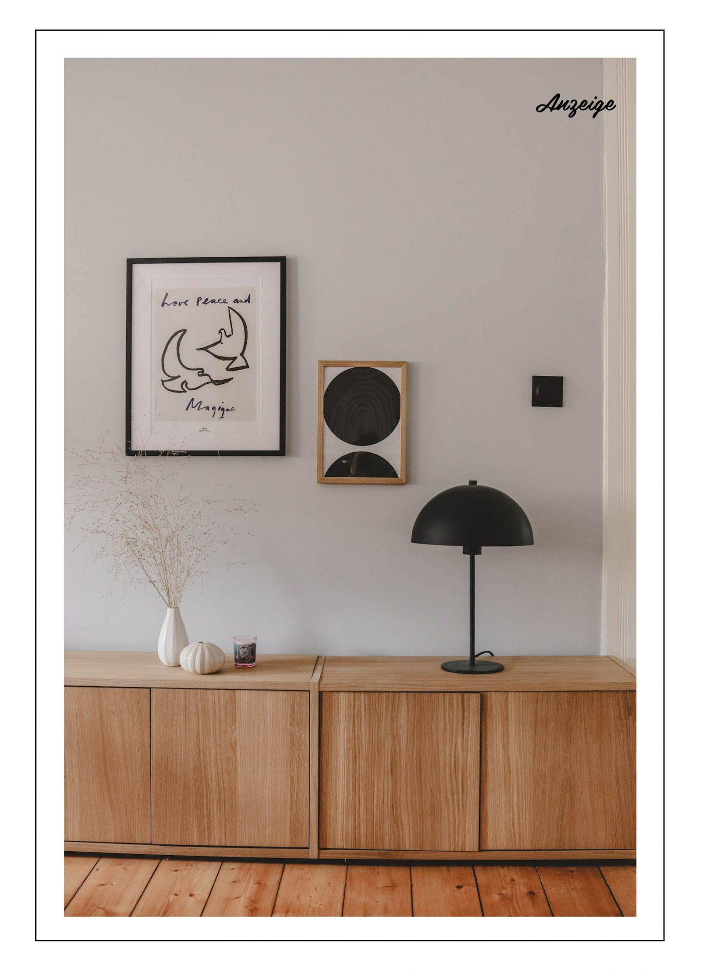 Jetzt das Home Office aufhübschen: Unser Lowboard aus Eichenholz von MYCS